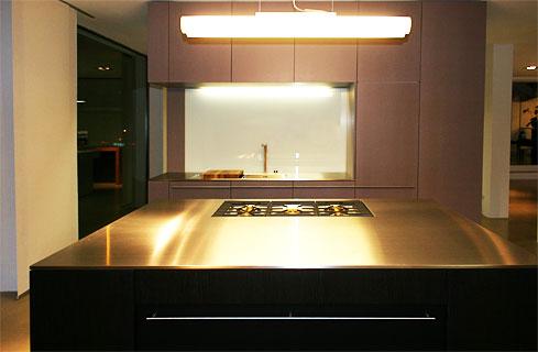 morasch schreinerwerkstätte: individuelle küche 05 - Edelstahlplatte Küche